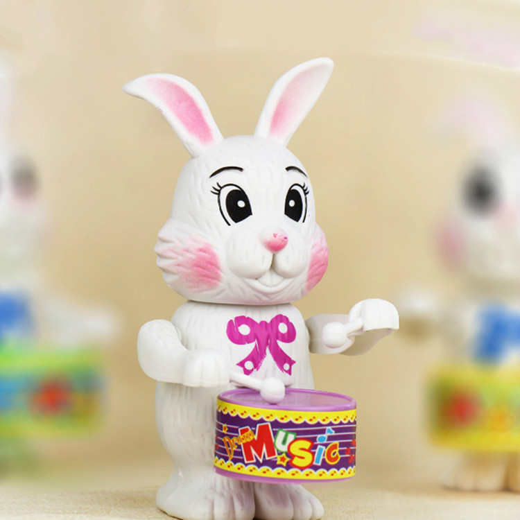 Hot Sale 1PCS Winding Up Toys Children's Educational Rabbit Drum Toys For Children Christmas Gift