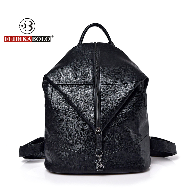 Vintage Women Backpack Fashion Leather Travel bag For Femal High Quality Famous Designer Backpacks embossing bags for Women 2018
