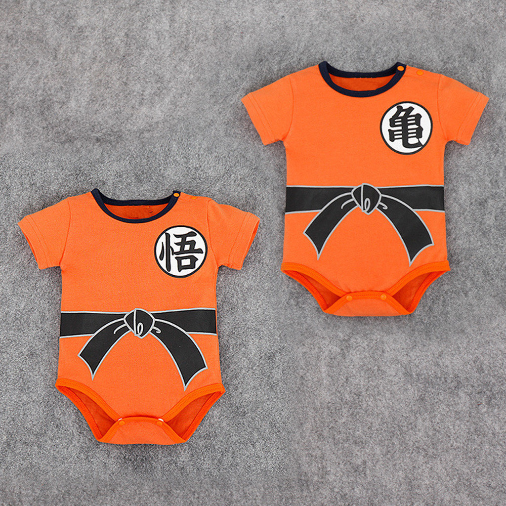 Kung Fu Infant Toddler Baby Boys Clothing Casual Short Sleeve Goku   Romper   Jumpsuit Newborn Baby Boy Girl Clothes HOOLER