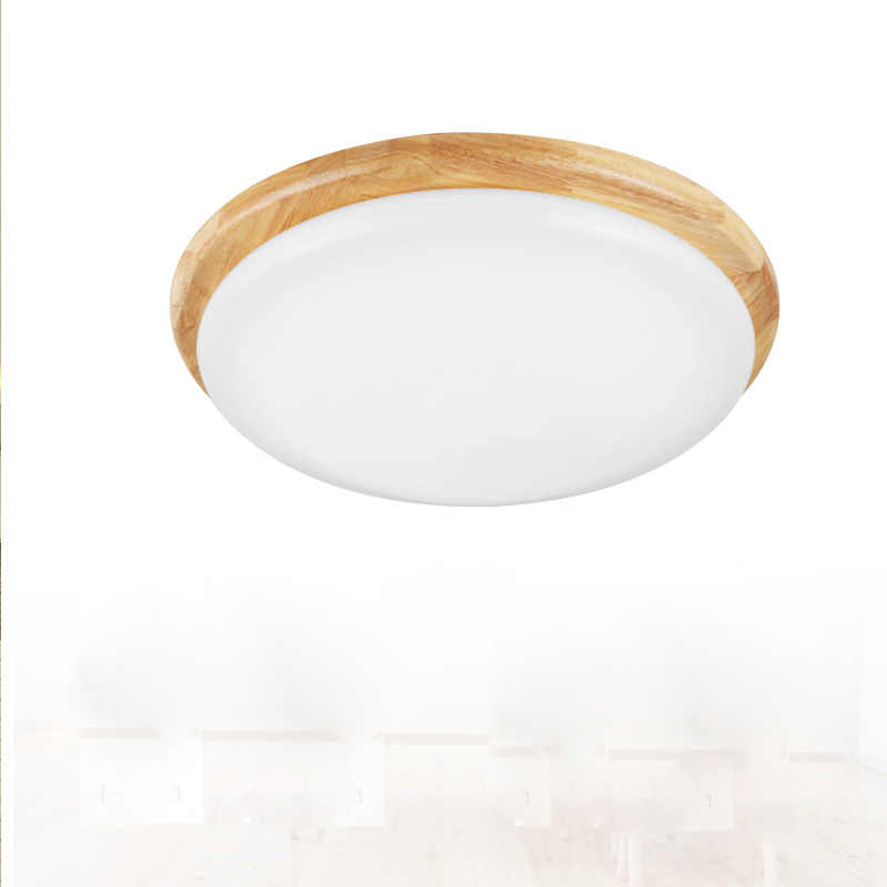 цены Wood Light LED 15W 18W 24W Square Round Ceiling Lamp