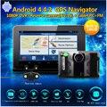 "TOP SALE 7"" Car gps Android navigation with radar detector dvr camera 1080P Dual lens rear view camera Radar Detector Free map"