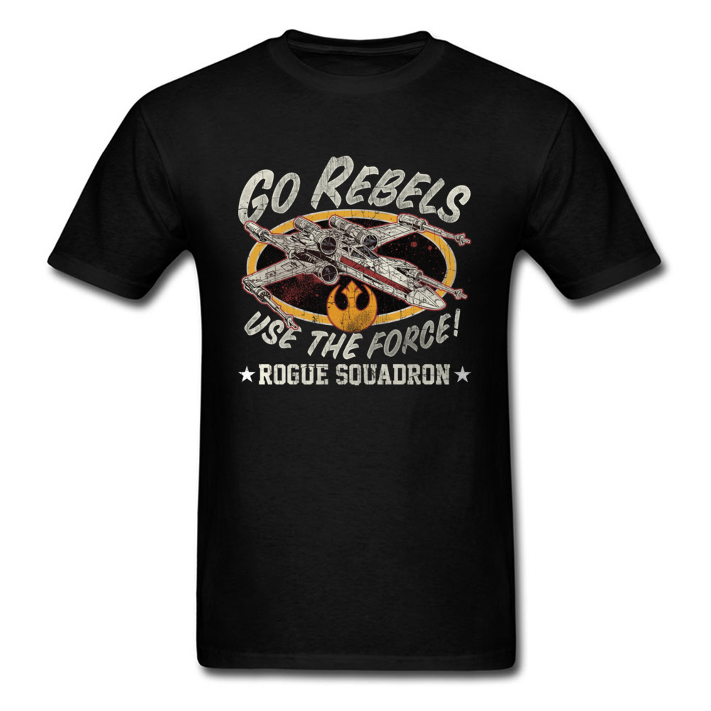 New Style Fashion T Shirt Men Printed Tees Star Wars Rogue Squadron Retro T-Shirts Funny AF  Fighter T-Shirt Summer Tops