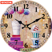 hot deal buy meistar fashion creative wall clocks cafe design silent home office cafe wall decoration clocks home art decorative wall clocks