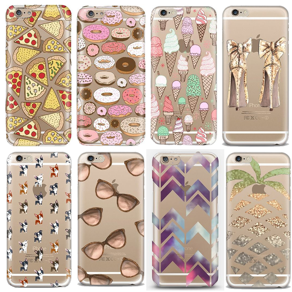 2015 Hot Selling Thin Soft Silicone Tpu Transparent Printed Cover