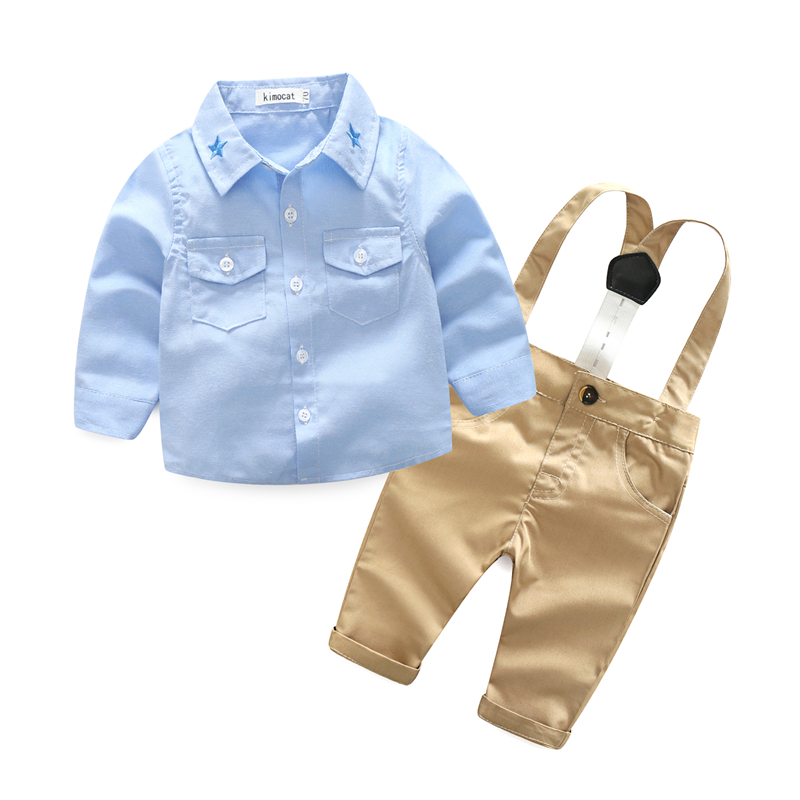 New Gentleman Baby Boy Clothing Set Long Sleeve Kid Suit Shirt+Pant Outfits Set Spring Children Clothes 2Pcs Casual Childre Sets kid 3pcs clothes suit baby boys long sleeve t shirt top vest pants trousers outfit children gentleman clothing set
