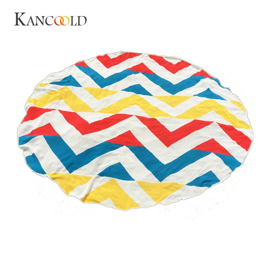KANCOOLD silk scarf shawl Curtain Or Table Cloth Unique Style Hippie Tapestry Beach Throw Roundie Towel Yoga Mat Bohemian JAN24