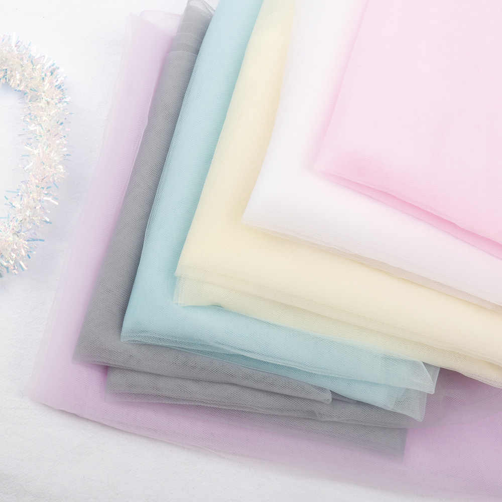 AHB Organza tela Color sólido hilo tela de muselina tul malla DIY ropa tutú vestido boda decoración Organza artesanía costura tela