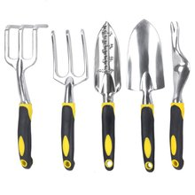 Набор инструментов для садоводства из магниевого сплава, садовый набор инструментов, садовые инструменты для сада на открытом воздухе, большой шолв/лопата для корня/крестик/грабли, Прямая поставка