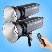 2PCS Godox SL 200W 5600K LCD Panel LED Video Continuous Light with Remote Control