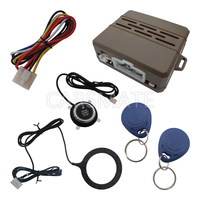 Universal RFID Car Alarm System With Finger Touch Engine Start Stop Push Button And 2 Immobilizer
