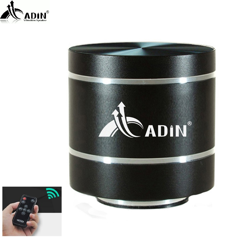 2018 ADIN HIFI Metal Vibration Speaker Mini Portable 5W Intelligent Remote Subwoofer Small Speakers TF Bass FM Radio Speakers remote control vibration speaker adin mini portable fm radio speaker mp3 stereo small bass hifi metal tf speaker caixa de som