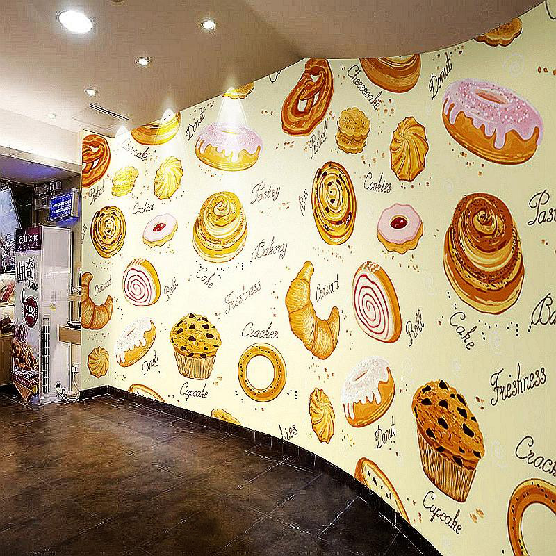Custom photo wallpaper 3D mural delicacy Cake Bakery tea shop dessert Catering restaurant decoration background wall mural custom mural 3d korean cuisine wallpaper leisure bar restaurant theme hotel snack shop background beverage food wallpaper mural