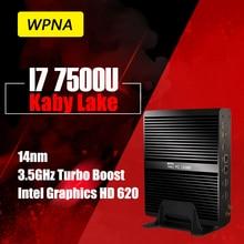 WPNA неттоп UX870 intel core i7 7500U HD Graphics 620 HDMI 16 ГБ 512 ГБ SSD WIFI Windows10 игровой мини пк мини компьютер
