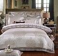 4/6 Pcs White Color Jacquard Luxury Bedding sets Queen/King size Boho lace Stain Bed set 4/6 Pcs Cotton Bed linen Duvet cover