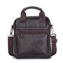 Men's Genuine Leather Messenger Bag Crossbody Shoulder Bag For Men Business Fashion Casual Travel Bags NB050