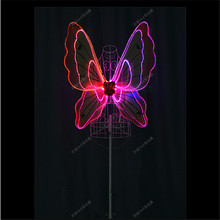 TC-171D Women led dance costumes RGB light full color butterfly wings programmable bar stage dress dj clothes cosplay wears led