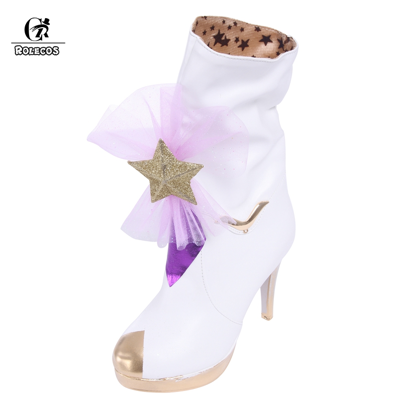 ROLECOS LOL Cospaly Janna Boots Star Guardian Shoes Cospaly Magical Girl Janna Brand Customer Size Made