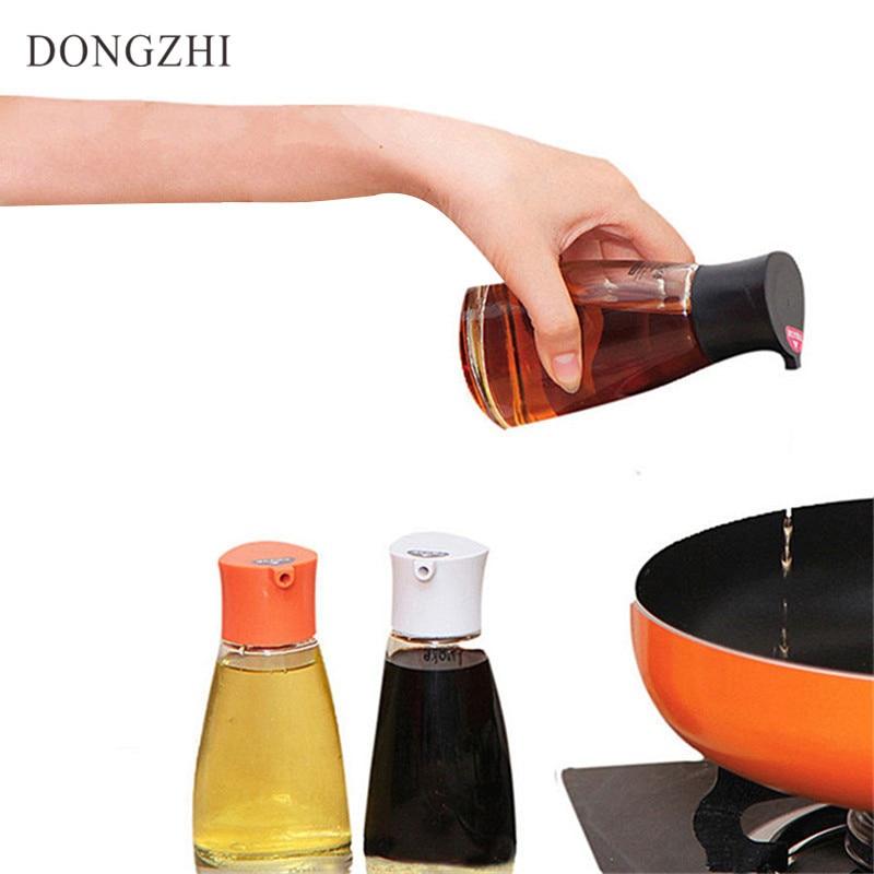 1 PCS Kitchen Utensil Sets oil cans Glass Leak Proof salt Pots Oil Can Kitchen Accessories 380ml Oil Spraying Bottle Cook LB010