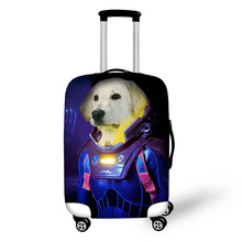 цена на Zipper animals print on suitcase luggage travel luggage protective cover anti-dust trolley cover for 18 to 30 inch bag