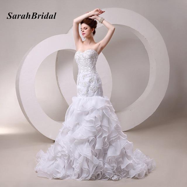 Tiered Ruffle Sweetheart Wedding Dress