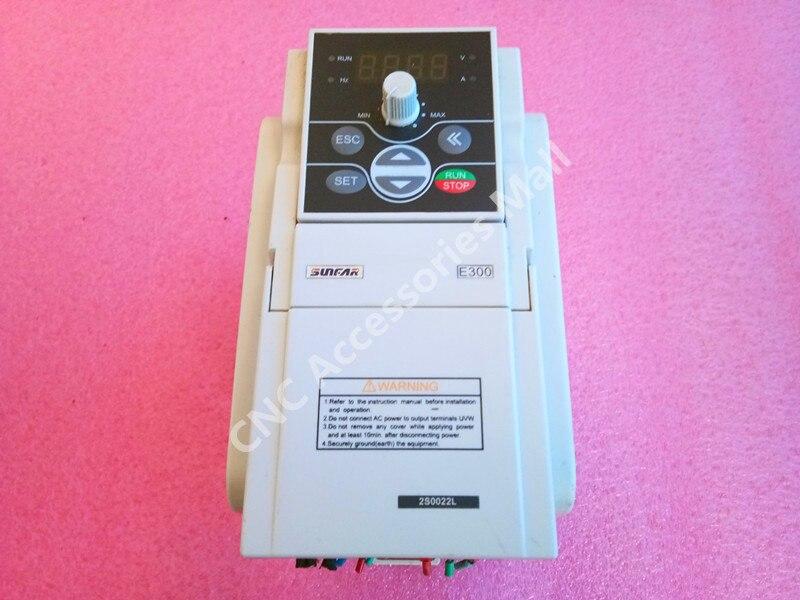 Original NOUVEAU SUNFAR VFD Onduleur 2.2KW AC220V E300 Série CNC Routeur Fréquence Variateur de broche, E300-2S0022L