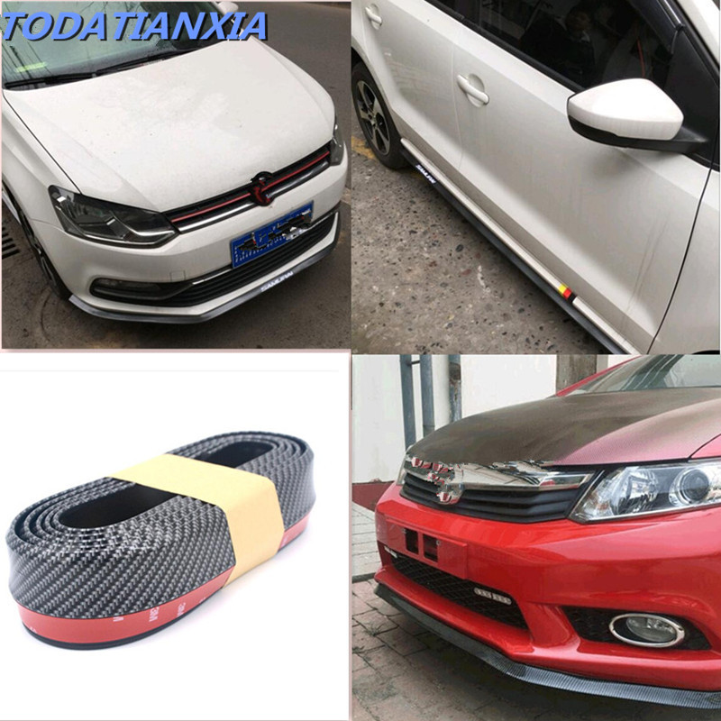 2018 New Car styling Car Front Bumper Lip Sticker Protector for hyundai i30 mercedes w203 volvo s80 vw golf 5 3008 Accessories