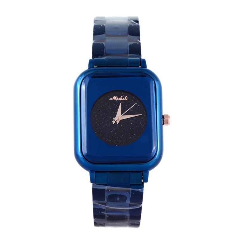 Montre Femme Relogios MASHALI 뉴 스퀘어 여성 시계 중성 유행 소녀 학생 시계 손목 시계 생생한 블루 Relojes W066