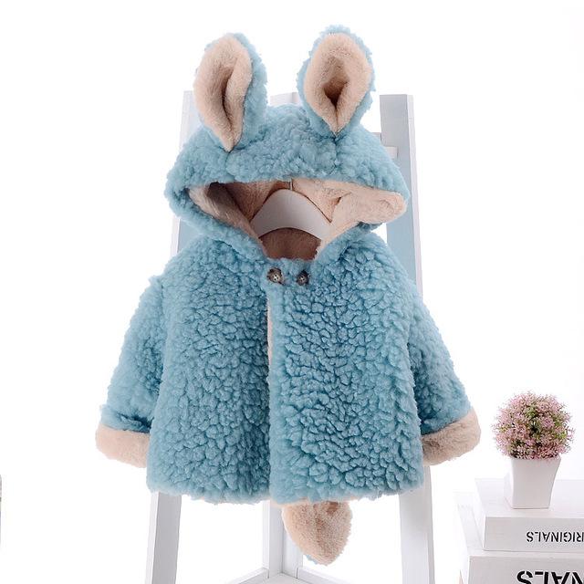 Baby girl clothing chaqueta con capucha para niños 2016 otoño y el invierno de corea los niños espesar algodón de la princesa bebé de la capa capa de la felpa