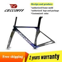 Ceccotti 탄소 도로 프레임 카멜레온 컬러 탄소 자전거 프레임 t1000 toray 자전거 프레임