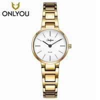 ONLYOU Fashion Women Bracelet Watch In Women S Watches Rosegold Luxury Casual Ladies Quartz Wristwatch Dress