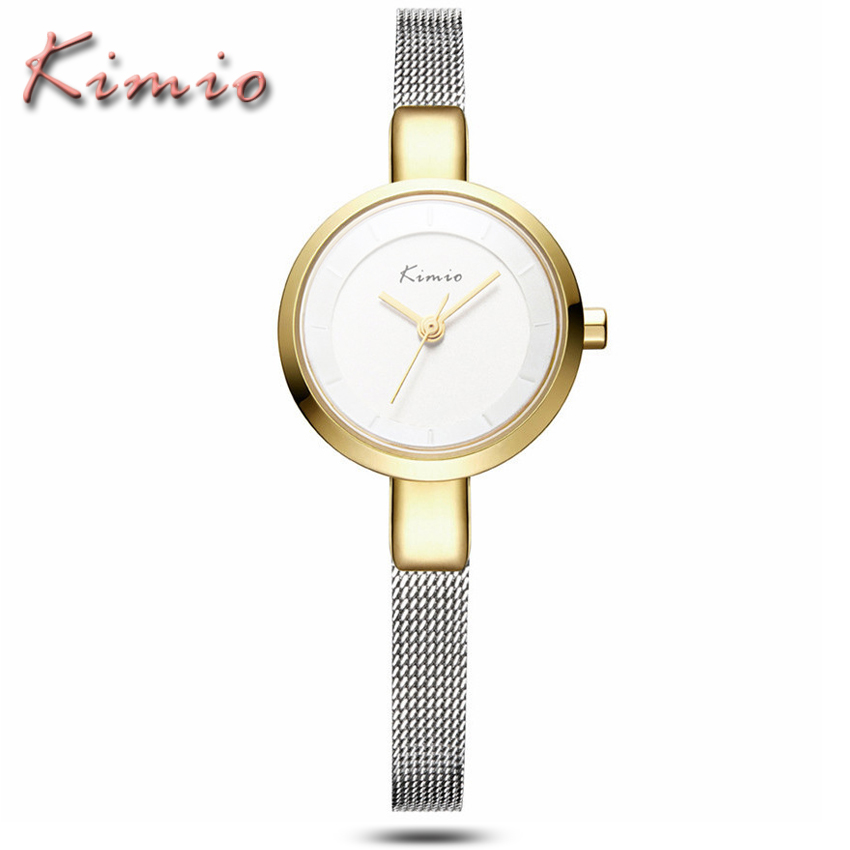 KIMIO Brand Women Bracelet Watches Business Casual Ladies Dress Clock Waterproof Stainless Steel Quartz Watch Relogio