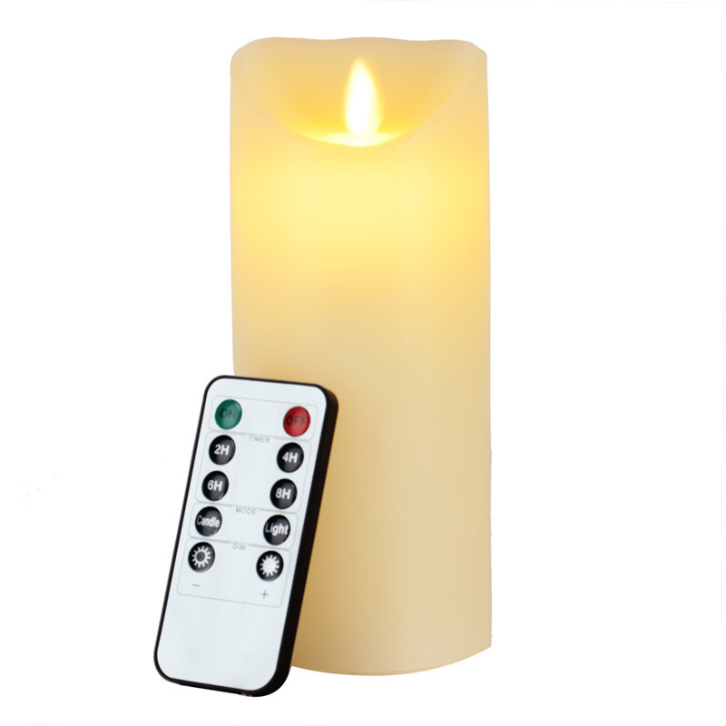 sin llama de led luz de las velas teclas de control