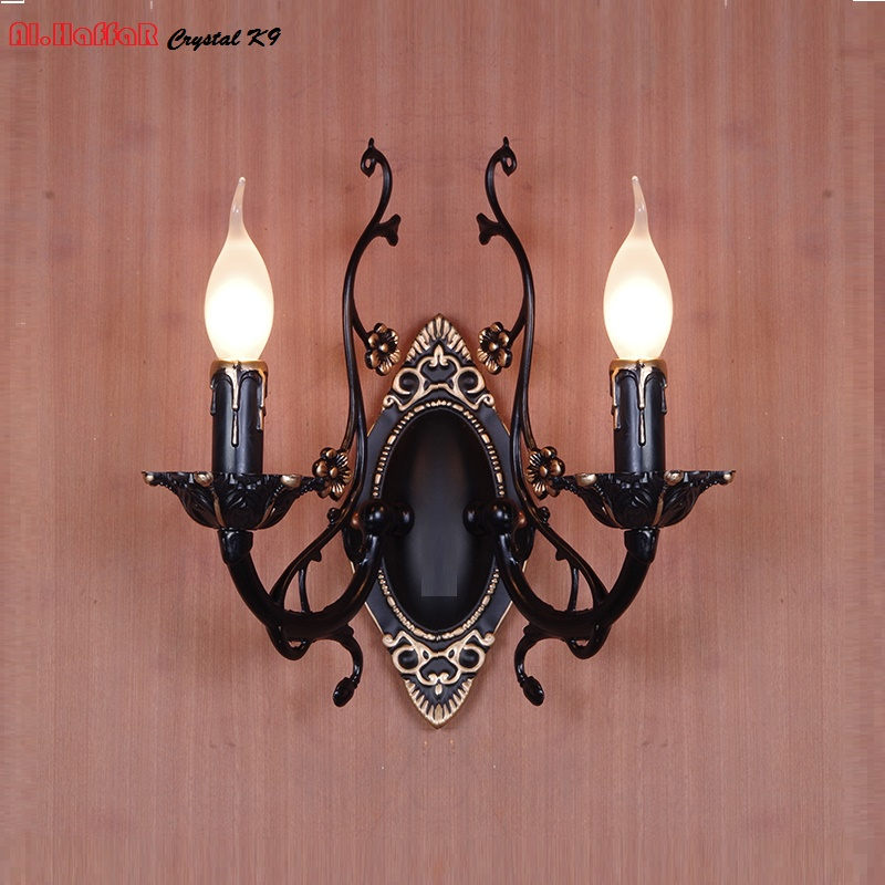 Wall Lamp American Retro Country Loft Style LED lamps Industrial Vintage Iron wall light for Bar Cafe Home Lighting цена 2017