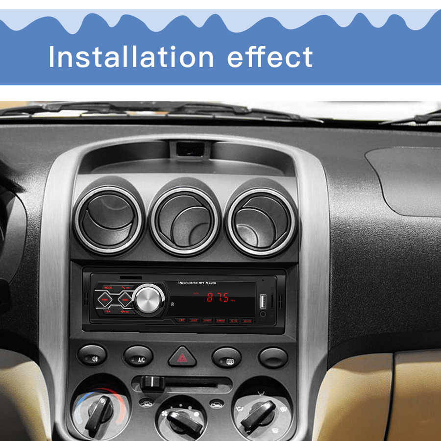 12V カーラジオテープレコーダー Autoradio MP3 プレーヤー LED ディスプレイの USB AUX FM Araba Teypleri 自動車ラジオテープレコーダーステレオ