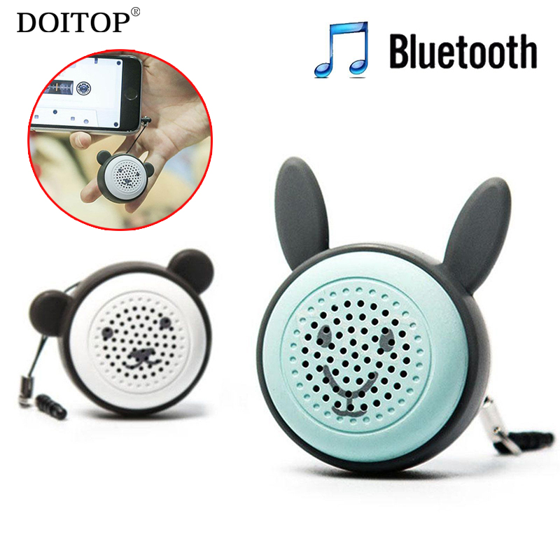 DOITOP Portable Mini Wireless Bluetooth Speaker Stereo Music Subwoofer Loudspeaker Phone Speaker with Self-timer Botton Control