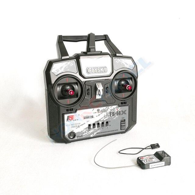 Новейший контроллер радиоуправляемого передатчика Flysky, 2,4G, 4ch, с приемником для радиоуправляемого вертолета, самолета, квадрокоптера