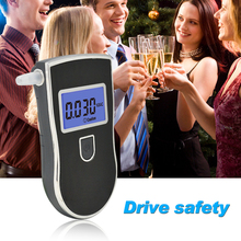 Best Selling Digital BLUE LCD Display Alcohol tester Breathalyzer & 5 Mouthpieces with russian User manual