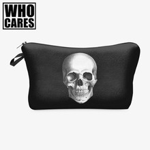 Skull Monster 3D Printing Makeup Bag 2017 Maleta de Maquiagem Cosmetic Bag necessaire bags Organizer Party