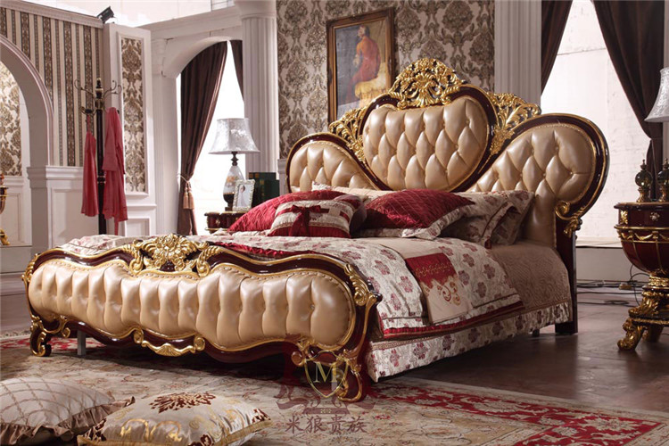 Classic design wooden bed For luxury home bedroom