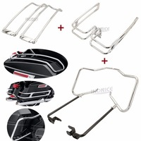 Motorcycle saddlebag bracket guard for roadking flhr rail guard Ultra FLTRU saddlebag bracket 16 18