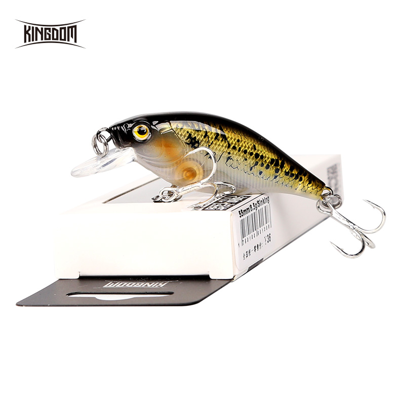 Fishing Kingdom Lifelike sinking Minnow Fishing lures 5.5cm 6.5g VMC Hooks Fish Wobbler Tackle Crangkbait Artificial Hard Baits 7501