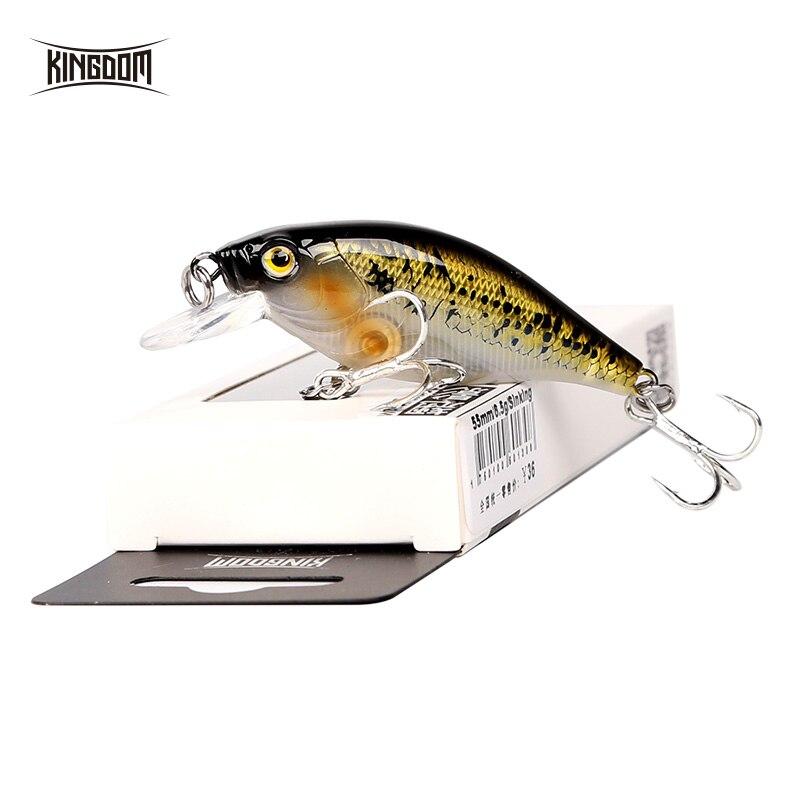Kingdom Lifelike Sinking Minnow Fishing Lures 5.5cm 6.5g VMC Hooks Fish Wobbler Tackle Crangkbait Artificial Hard Baits 7501