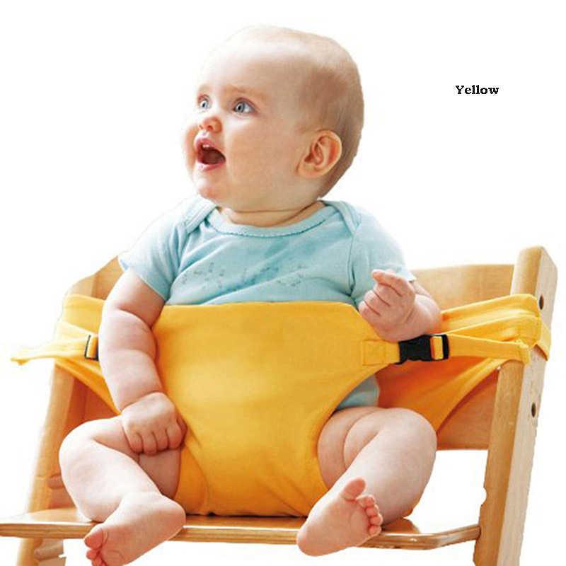 เด็กโพลีเอสเตอร์เก้าอี้ Booster ความปลอดภัยสายรัดรับประทานอาหารที่นั่งเข็มขัดแบบพกพาสายรัดรับประทานอาหารที่นั่งเข็มขัด