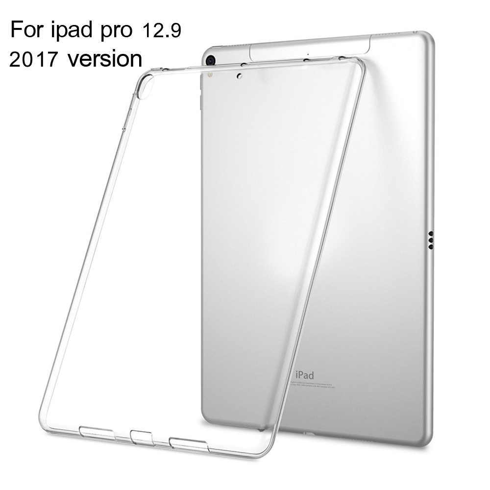 for iPad pro 12.9 inch 2017 Case Slim Crystal Clear TPU Silicone Protective Back Cover For ipad pro 12.9 inches 2017 model redlai colors crystal clear laptop case