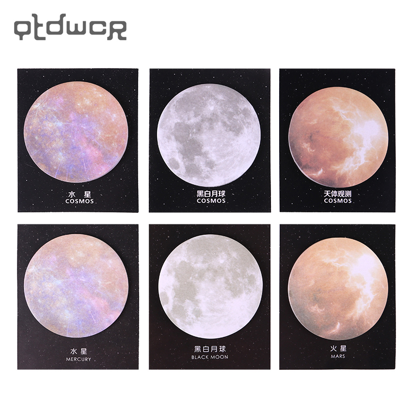 1PC(30 sheets)Planet Memo Pads Sticky Notes Kawaii Cute Planet Paper Notepad Scrapbooking Stickers Office School stationery prescription drug