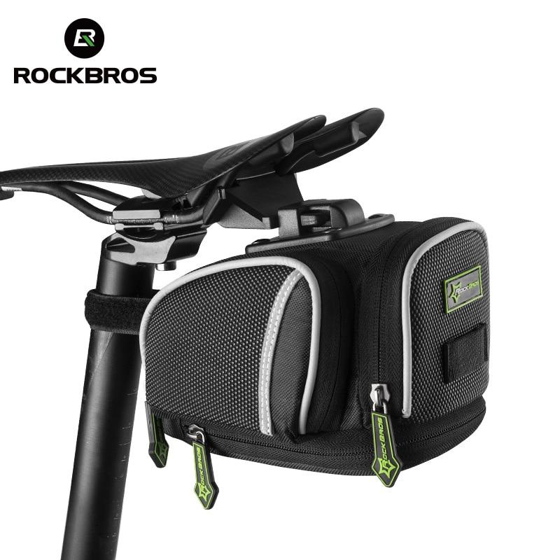 ROCKBROS Road Bike Bicycle Saddle Bag Portable Cycling Outdoor MTB Seat Post Bag Basket Adjustable bike riding Fixed Gear Fixie