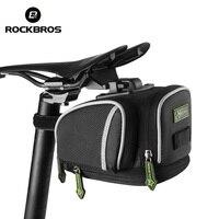 ROCKBROS Road Bike MTB Del Poste Del Asiento Bolsa de Sillín de Bicicleta Portátil Ciclismo Al Aire Libre Bolsa Basket Ajustable bicicleta Fija Del Engranaje Fixie