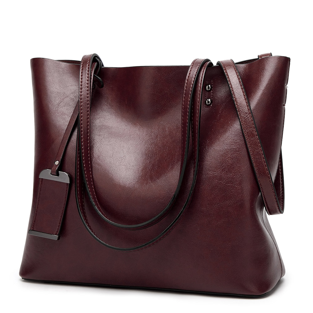 LA MAXZA Women Bag Oil Wax Leather Handbags Luxury Lady Bags With Purse Pocket Women Messenger Bag Big Tote Sac Bolsos Mujer women bag oil wax women s leather handbags luxury lady hand bags with purse pocket women messenger bag big tote sac bolsos mujer