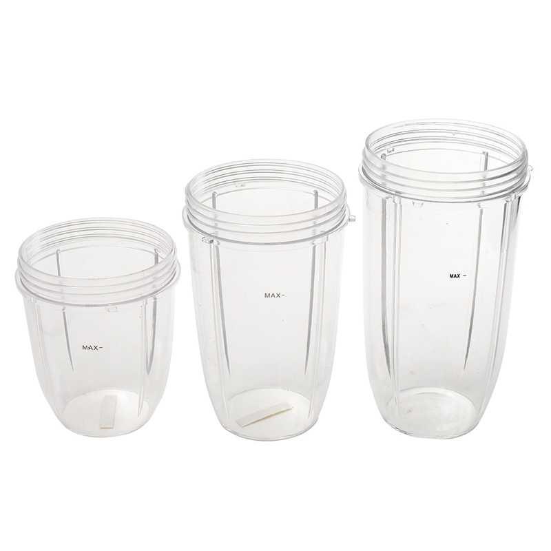 3 pçs substituição copos 32 oz colossal + 24 oz alto 18oz pequeno copo + 3 tampas para nutribullet frutas espremedor peças aparelho de cozinha b