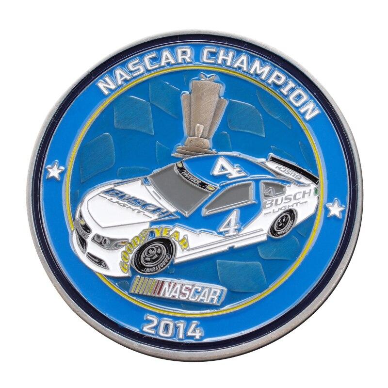 Custom BUSCH NASCAP CHAMPION Coin hot sale Car competition commemorative coins cheap customized metal Souvenir coins